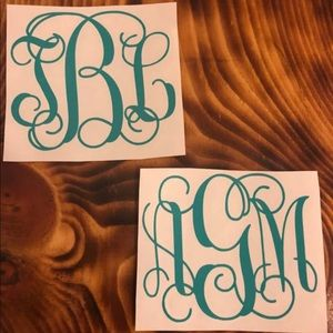 Monogram Window decal